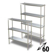 AISI 304 Stainless Steel Shelves 60 cm Depth