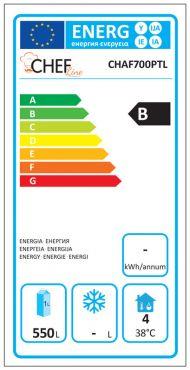 Classe Energetica Armadio Refrigerato Professionale 700 Positivo