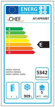 Classe Energetica Armadio Refrigerato Professionale 1400 Negativo AF14PKMBT