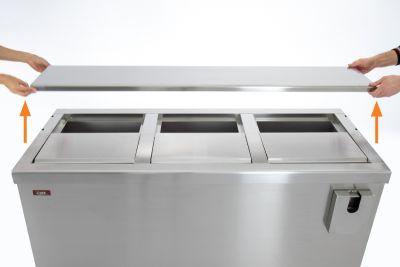 Dettaglio 6 Refrigeratore Bibite Orizzontale a Pozzetto