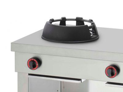 Dettaglio Del Piano Cucina Wok Professionale Chefline Senza Optional Vasca Acqua CHW702