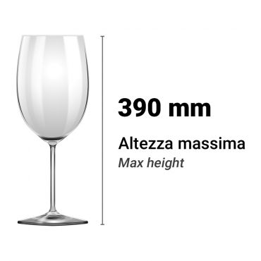 Altezza Utile Lavastoviglie Lavabicchieri 390 mm Chefline