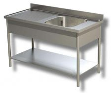 Freestanding Commercial AISI 304 Stainless Steel Sinks