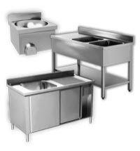 Stainless-Steel Basins, Pot Wash and Handwash Sinks Aisi 430 EKO Range