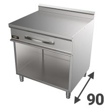 Stainless Steel Worktops And Supports 90 Series  For Commercial Ranges