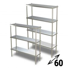 AISI 304 Stainless Steel Shelves 60 cm Depth