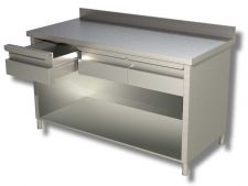 TOP Stainless Steel Open-Front Cabinet Work Table