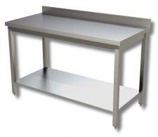 Tables Avec Étagère Inférieure en Acier Inox AISI 304 Ligne TOP