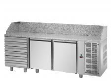 Refrigerated Pizza Fridge 2 Granite Floor Doors 6 Neutral Drawers