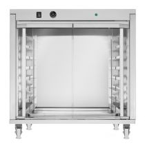 Commercial Dough Proofer 8  60 x 40cm Trays -2 Glass Doors With Side Opening and Wheels
