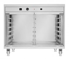 Commercial Dough Proofer With Humidifier 12 60x40cm Trays 2 Doors With Side Opening + Wheels