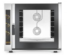 Commercial Electric Convection Oven For Bakery 6  x 60x40 cm Trays  - Direct Steam - Manual