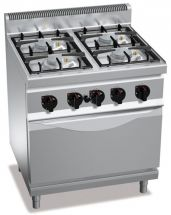 Commercial Gas Range With Oven CHGX7F4PW+FE