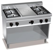 Commercial Gas Stove With Solid Top Gas Hob CHGX7T4P4FM