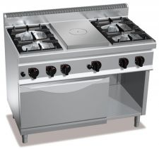 Commercial Gas Stove With Solid Top Gas Hob CHGX7T4P4F+FG