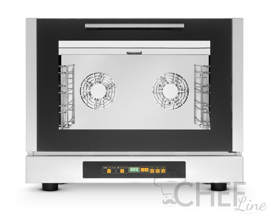 Commercial Electric Convection Oven For Restaurants 4 Gn 1/1 Trays (53x32,5 cm) With Humidification - Digital