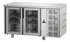2-Glass Door Worktop Fridge 70cm Depth