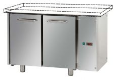 2-Door Commercial Counter Fridge Without Worktop 70 cm Depth