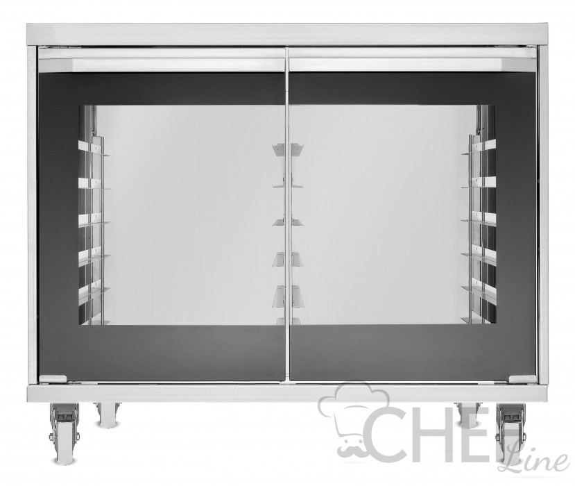 Commercial Dough Proofer With Humidifier 12 60x40cm Trays - Touch Control  - Display Controls On Oven Panel + Wheels