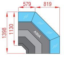 Ventilated Cooling Serve-Over Display 90° Open Corner