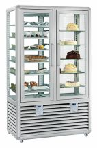 Vertical Refrigerated Glass Pastry and Ice Cream Display Cabinet 742 LT