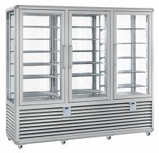 Vertical Refrigerated Glass Pastry and Ice Cream Display Cabinet 1388 LT