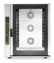 Commercial Electric Convection Oven For Restaurants 11 Gn 1/1 Trays (53x32,5 cm) Direct Steam with Boiler - Digital