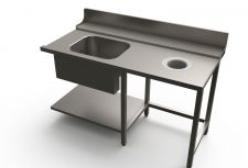 Dish Table with Tub and Hole For X160E Hood Dishwashers