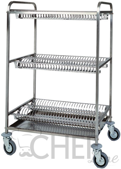 Stainless Steel Dish Drying Rack Trolley