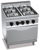 Commercial Gas Range With Oven CHGX7F4PW+FG