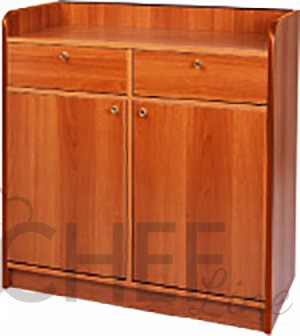Waiter Station 2 Doors and 2 Drawers Walnut