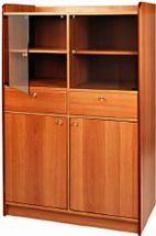 Waiter Station 2 Doors, 2 Drawers and 2 Shelves Walnut