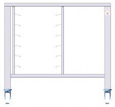 Untergestell Backofen Zu 6 GN 2/1 (65 x 53) Bleche + Rollen + Einschübe