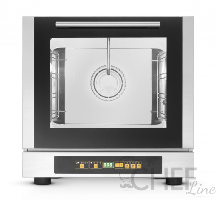 Commercial Convection Electric Mini Oven 4 42,9x34,5 cm trays Direct Steam - Digital