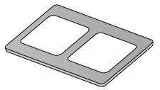 Gusseisen-Kochplatte für professionelle Elektroherde - Serie 70