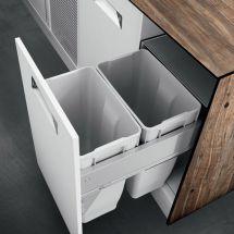 Zwei Mülleimer Für Die Mülltrennung 35 Liter