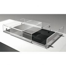 Plexiglasabdeckung Schiebetüren für Kühlwanne