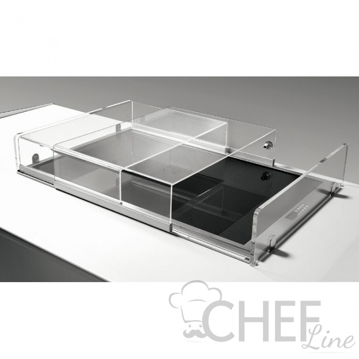Plexiglass Sliding Cover For Refrigerated Drop-in