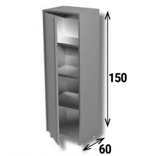 Stainless Steel Hinged Door Storage Cabinet