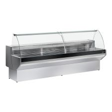 Ventilated Serve Over Counter Padova with Curved Glass And Storage Depth 91 cm 0°C/+2°C