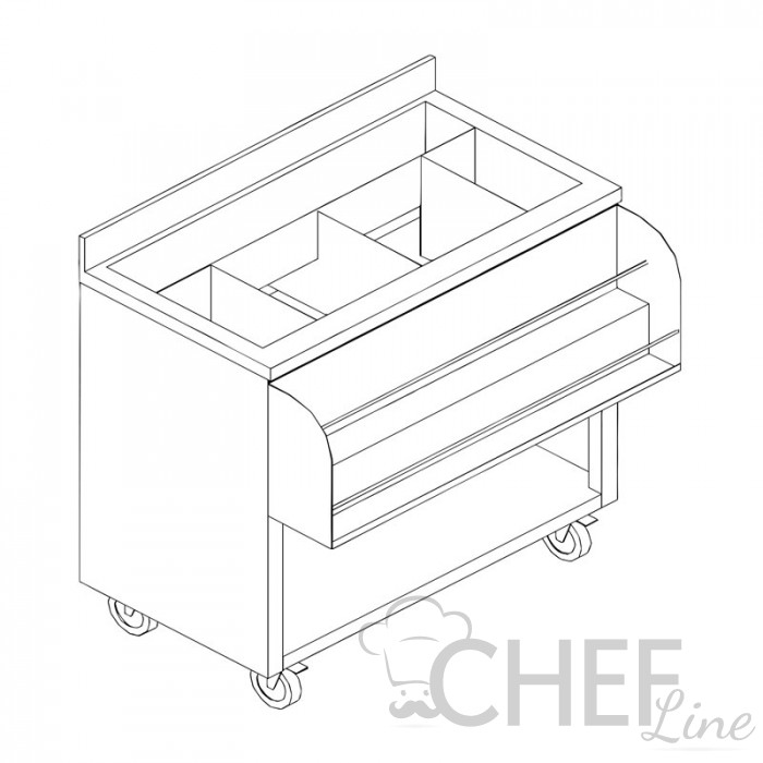 Image of Chefook cocktail preparation counter depth 50
