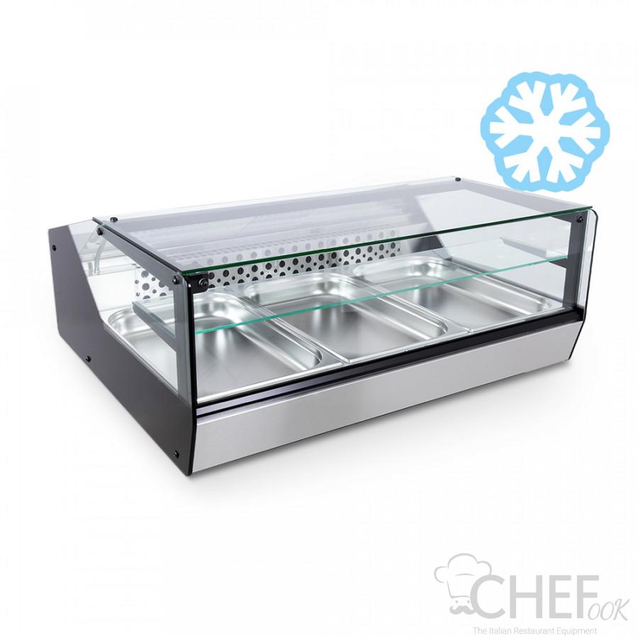 Countertop Display Fridge For Bars and Deli Shops +2°C/+8°C FULL OPTIONAL