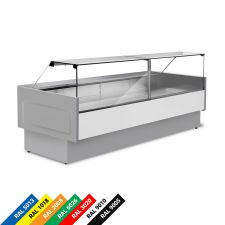 Semi Ventilated Serve Over Counter Fridge With Straight Glass and High Front Depth 100 cm