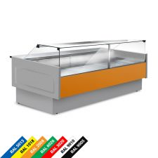 Semi Ventilated Serve Over Counter Fridge With Straight Glass and High Front Depth 114 cm