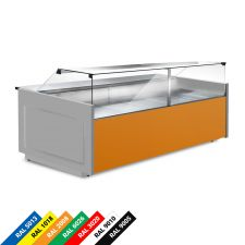 Semi Ventilated Serve Over Counter Fridge With Straight Glass and Low Front Depth 114 cm