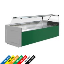 Semi Ventilated Serve Over Counter Fridge With Straight Glass and Low Front Depth 90 cm