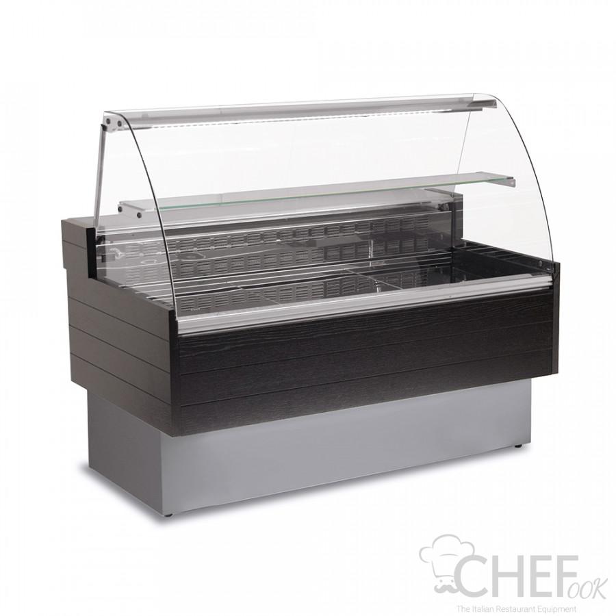 Refrigerated Serve Over Counter Kibuk Wood Effect