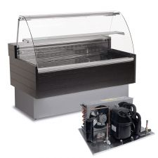 Refrigerated Serve Over Counter Kibuk Wood EffectWith Remote Motor