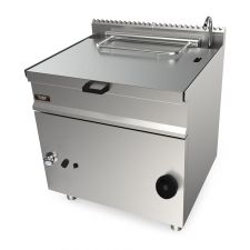 CHEFOOK Gas Bratt Pan With Manual Tilting 55 Lt - 70 cm / 27,5 in Depth