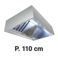 Commercial Extractor Hood 'Cubic', 110 cm Depth With Motor